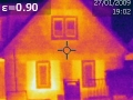 Thermografie vor Wärmedämmung eines Objektes